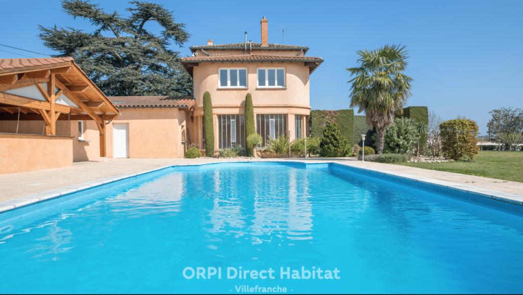 ORPI-Direct-Habitat-Villefranche-Villa-Arnas-Vue-Piscine